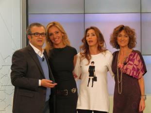 Con Jose Luis Roig, Mª Eugenia León y Ana G.Lozano en Ahora Marta