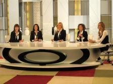 Con Mabel Lozano, Carmen Ro, Ana G.Lozano y Mercedes Morenés en Ahora Marta