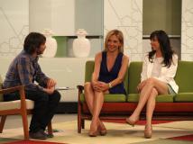 Con Fernando Tejero y Carmen Ruiz en Ahora Marta