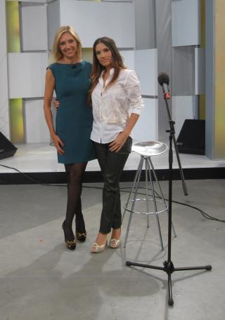Con India Martínez en Ahora Marta