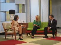 Con Mara Torres y Lorenzo Silva en Ahora Marta