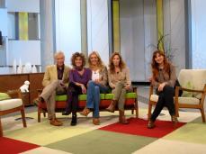 Con Jorge Cabezas, Ana G.Lozano, MªEugenia León y Nuria Richart en Ahora Marta