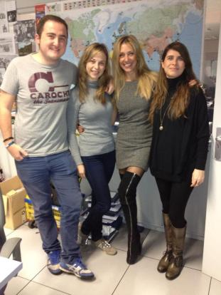 Con Miguel, Virginia y Yolanda de Madrileños por el Mundo