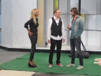 Con Mario Caballero y Santi Millán en 'Ahora Marta'