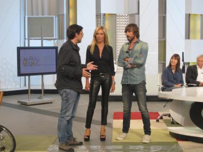 Con Jorge Alcalde y Santi Millán en 'Ahora Marta'