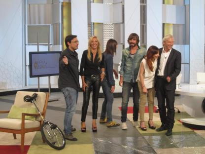 Con Jorge Alcalde, Mabel Lozano, Santi Millán, Nuria Richart y Jorge Cabezas en 'Ahora Marta'.