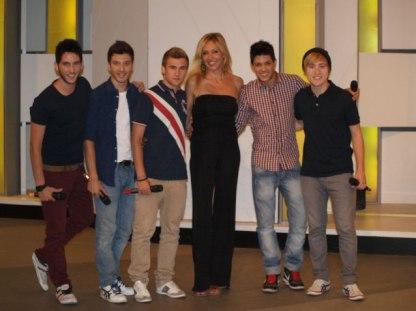 Con los chicos de 'Auryn'
