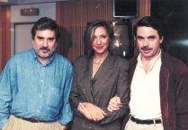 Con el ex-presidente José Mª Aznar y Javier Rioyo