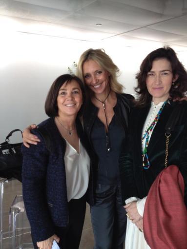 Con Charo Izquierdo y la ex ministra Gonzalez Sinde - 080 Barcelona Fashion