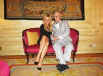 Con Manolo Blahnik.