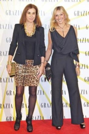 Con mi amiga Carmen Posadas, en la presentación de Grazia
