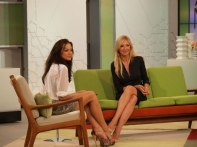 Con la actriz Christina Ochoa