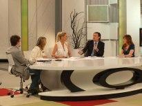 Momento del debate político con Álvaro Ballarín y Ana García D'Atri