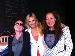 Con la escritora Cristina Fallarás y la editora Silvia Pérez