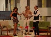 Con Mónica Hoyos y Mario Caballero en 'Ahora Marta'