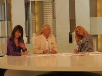 Con Mabel Lozano y Jorge Cabezas en Ahora Marta