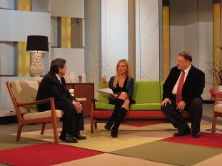 Con César Vidal y Federico Jiménez Losantos en Ahora Marta