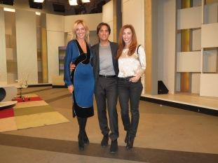 Con Junior Cedaño y Eugenia León en Ahora Marta
