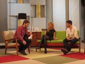 Con Álex Barahona y Javier Hernández en Ahora Marta
