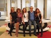 Con Ana G.Lozano, Eugenia León, Jose Luis Roig y Nuria Richart en Ahora Marta