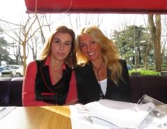 Con Carmen Posadas.