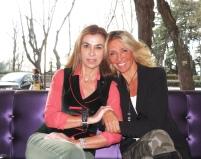 Con Carmen Posadas, en mi entrevista para La Razón.