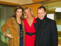Con Carmen Posadas y Javier Sierra