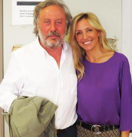 Con el escritor Julio Llamazares