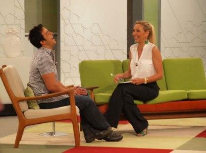 Con Luis Fonsi en 'Ahora Marta'