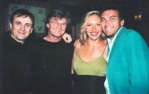 Con Jose Mota, Eloy Arenas y L. F. Alvés.