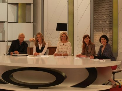 Jorge Cabezas, Mercedes Morenés, Nuria Richart y Sol Alonso en 'Ahora Marta'