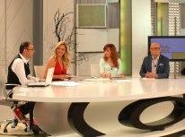Con Mario Caballero, Nuria Richart y Carlos Gª-Calvo en 'Ahora Marta'