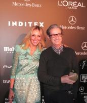 Con el diseñador Miguel Palacio... ¡Con un vestido suyo!