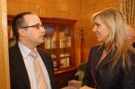 Con el periodista Alfredo Urdaci - Premios PR Noticias