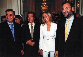Con el actual presidente Mariano Rajoy y directivos de Onda Cero