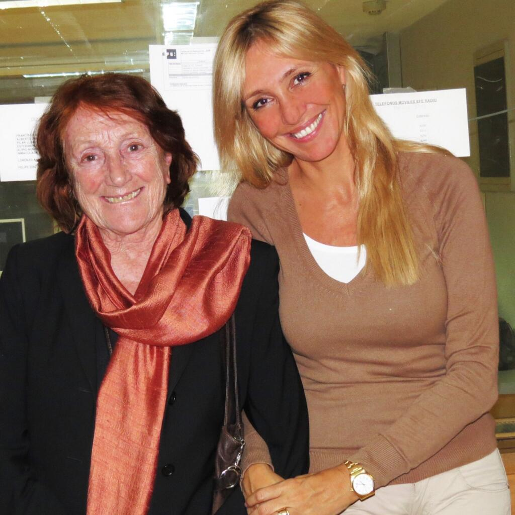 Con la escritora Rosa Regàs