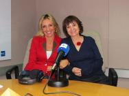 Con Rosa Montero