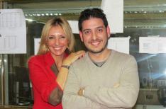 Con el escritor Guillermo Roz