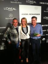 Con Joaquin Torres y Ángel Schlesser en la MBFW