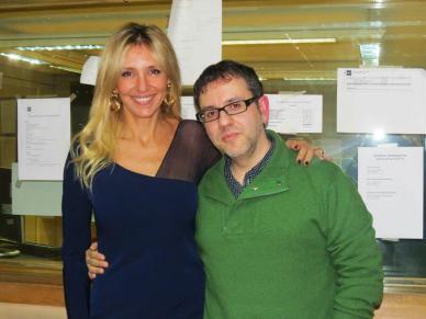 Con el director Antonio Trashorras