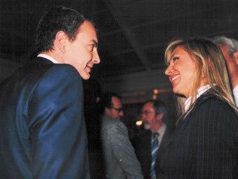 Con el ex-presidente Rodríguez Zapatero